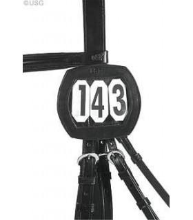 USG Skórzany czarny numer startowy